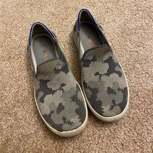 Kids camouflage Rothy's sneakers